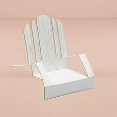 Laser Expressions Adirondack Deck Chairs - White