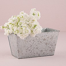 Galvanized Tin Rectangular Planter