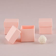 Blush Pink Square Favor Box with Lid