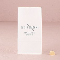 It's A Match Block Bottom Gusset Paper Goodie Bags