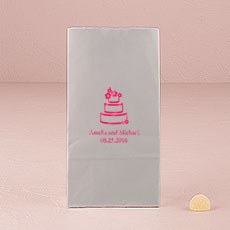 Wedding Cake Block Bottom Gusset Paper Goodie Bags