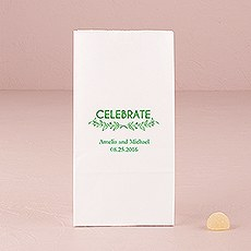 Woodland Pretty Celebrate Block Bottom Gusset Paper Goodie Bags