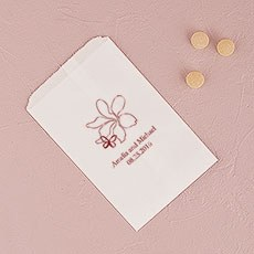 Floral Butterfly Flat Paper Goodie Bag