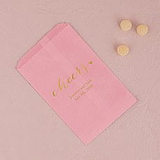 """cheers"" Flat Paper Goodie Bag"
