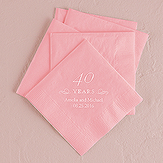 40 Years Printed Napkins