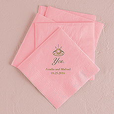 Yes (to the ring) Printed Napkins