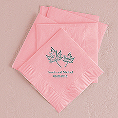 Fall Leaf Printed Napkins