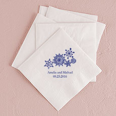 Winter Finery Snowflake Printed Napkins