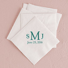 Traditional Monogram Printed Napkins