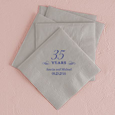 35 Years Printed Napkins