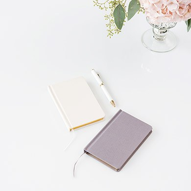 Ivory Linen Pocket Journal