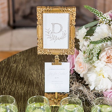 Rectangle Baroque Table Sign Holder