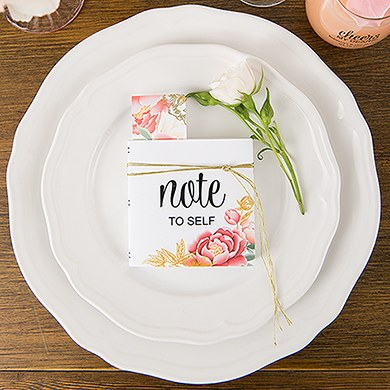 Notepad Favor with Personalized Modern Floral Cover