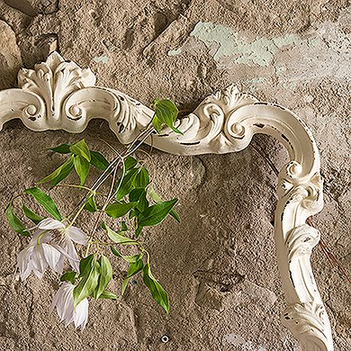 Open Ornate Vintage Inspired Frame in Antique White
