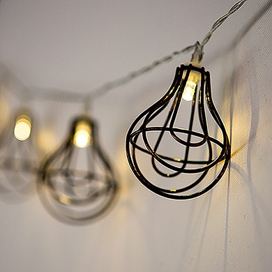 string of lights with light bulb wire cage battery led. Black Bedroom Furniture Sets. Home Design Ideas
