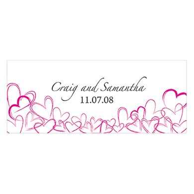 Contemporary Hearts Large Wedding Window Cling
