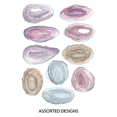 Agate Allure Diecut Shaped Card Set