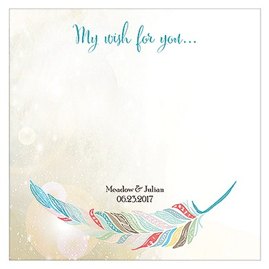 Feather Whimsy Memory Box Wishing Well Cards