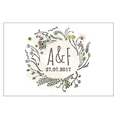 Natural Charm Large Rectangular Card