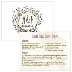 Natural Charm Small Printed Recipe Card
