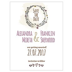 Natural Charm Save The Date Card