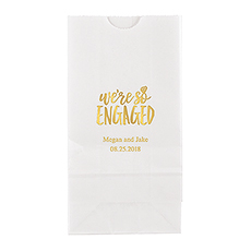 We're So Engaged Block Bottom Gusset Paper Goodie Bags