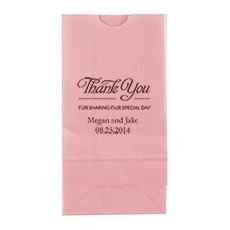 Thank You For Sharing Block Bottom Gusset Paper Goodie Bags