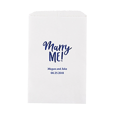Marry Me! Flat Paper Goodie Bag