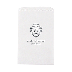 Classic Filigree Initial Flat Paper Goodie Bag