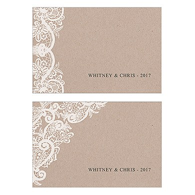 Lace Medley Assorted Flat Place Card