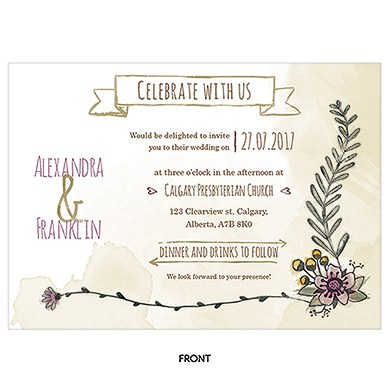 Natural Charm Horizontal Invitation