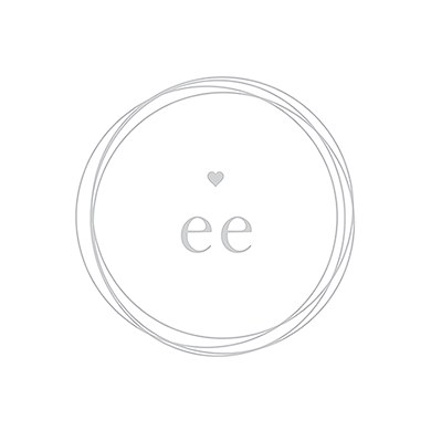 Monogram Simplicity Place Card With Fold   Modern