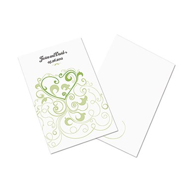 Heart Filigree Wedding Program