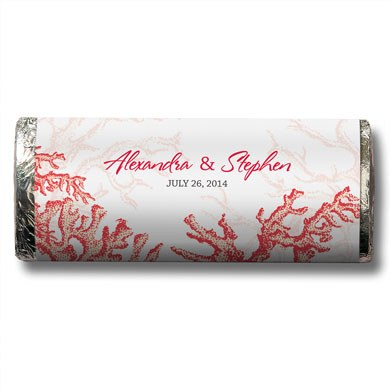 Reef Coral Chocolate Bar Wedding Favor
