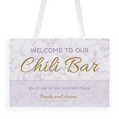 Geo Marble Welcome Poster
