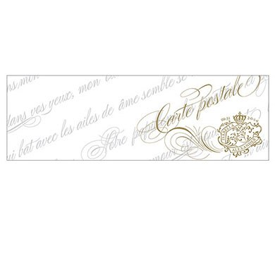 Parisian Love Letter Wedding Post Note Card with Fold
