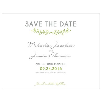 Woodland Pretty Save The Date Card