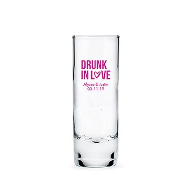 Tall Shot Glass Printed