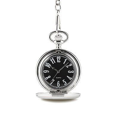 Classic Pocket Watch With Black Face