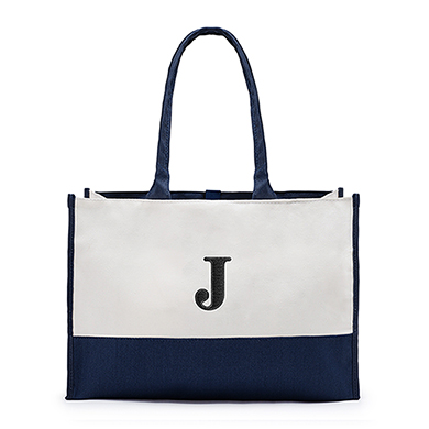 Colorblock Tote Navy