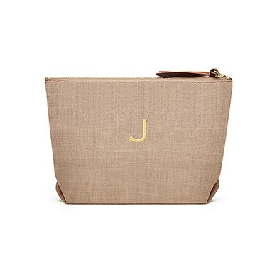 Napa Linen Cosmetic Bag Putty