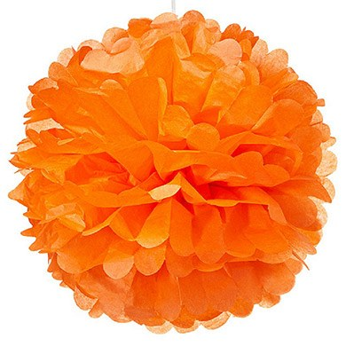 Large Paper Pom Pom Orange
