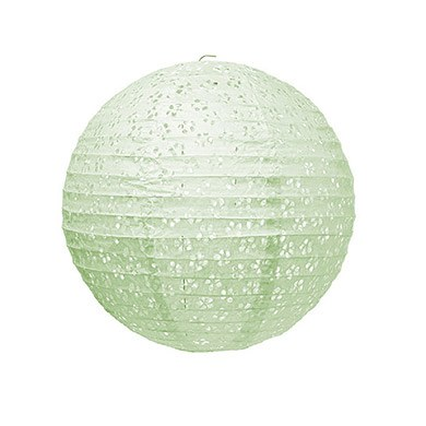 Small Eyelet Paper Lantern Pale Green