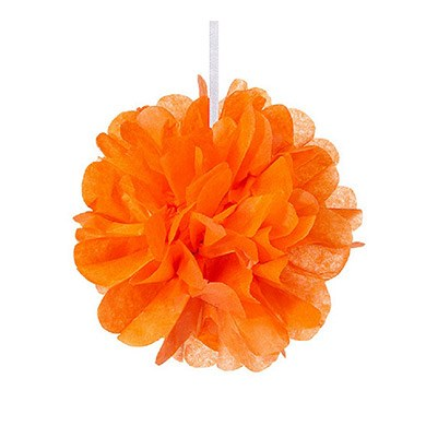 Mini Paper Pom Pom Orange