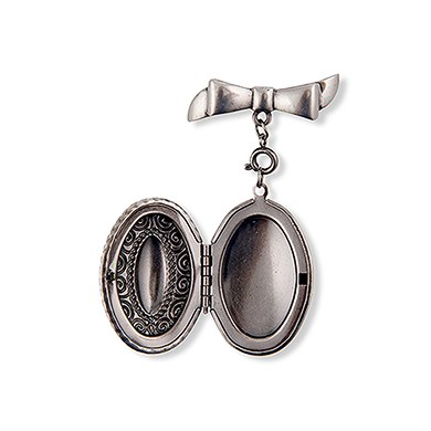 Love Locket Antique Silver