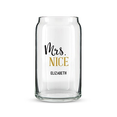 Can Shaped Glass Personalized - Mrs. Nice Printing
