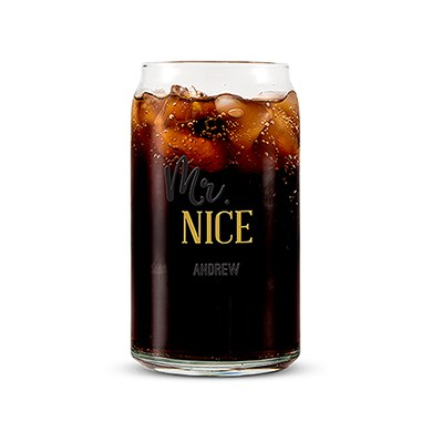 Can Shaped Glass Personalized - Mr. Nice Printing