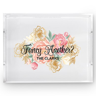 Rectangular Acrylic Tray - Fancy Another Modern Floral Print
