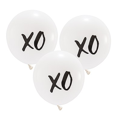 Large White Round Wedding Balloon Decorations - XO
