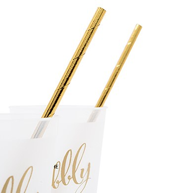 Gold Foil Fancy Paper Drink Straws